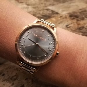 Karl Lagerfeld rose gold watch, like new condition